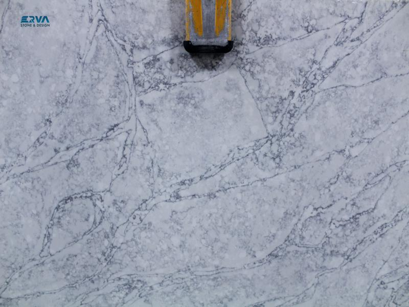 Calcatta Pearl Granites by Erva Stone & Design Fabricates at Fairfax, VA