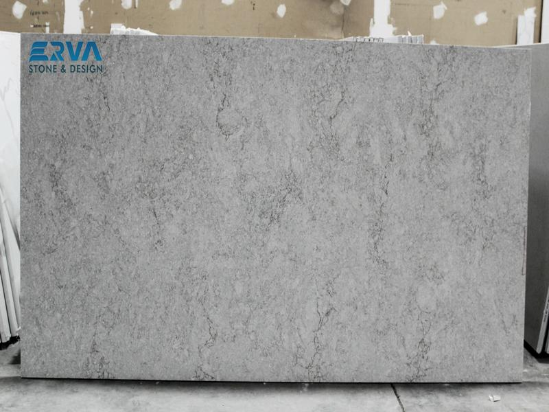 Gray Lagoon Quartz Granites by Erva Stone & Design Fabricates at Fairfax, VA